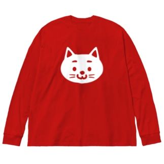 Cat Big silhouette long sleeve T-shirts