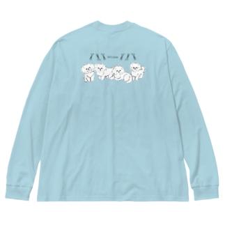 let's trim Big silhouette long sleeve T-shirts