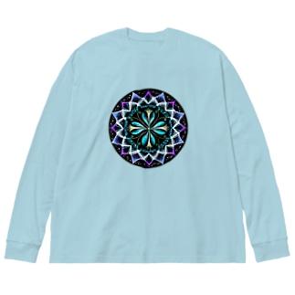 静謐−丸ver. Big silhouette long sleeve T-shirts