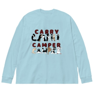 CARRY CAMPER Big silhouette long sleeve T-shirts