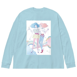 Cotton☆Candy Big silhouette long sleeve T-shirts