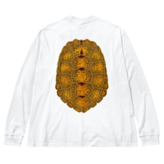 ニホンイシガメ Big silhouette long sleeve T-shirts