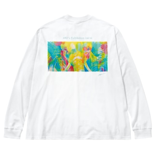 あなたと見つめ合う Big silhouette long sleeve T-shirts