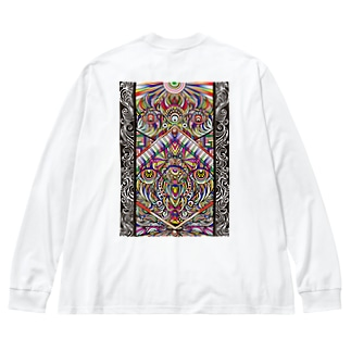 Facing eyes 'color' Big silhouette long sleeve T-shirts