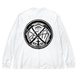 DEATHです Big silhouette long sleeve T-shirts