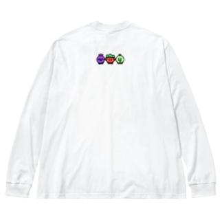 さんこいち(バックプリント) Big silhouette long sleeve T-shirts