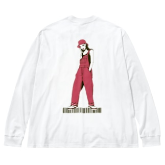 80s TWO BACK&FRONT Big silhouette long sleeve T-shirts