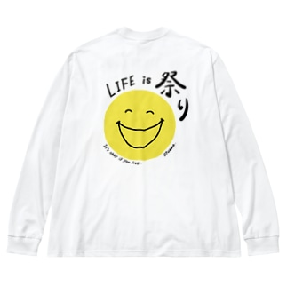 Life is 祭り 〜 07nico 〜 Big silhouette long sleeve T-shirts