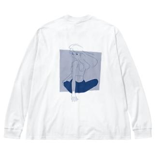 ツイスト Big silhouette long sleeve T-shirts