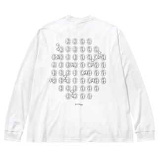 空気栓52個 Big silhouette long sleeve T-shirts