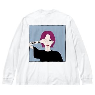 シニシズム Big silhouette long sleeve T-shirts