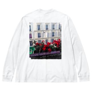 flower #01 Big silhouette long sleeve T-shirts