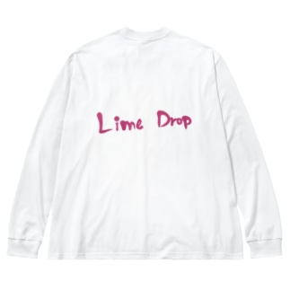 Lime Drop* Big silhouette long sleeve T-shirts