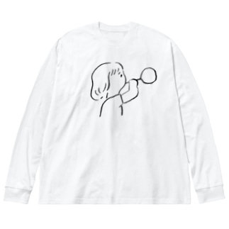 しゃぼんだまふうふう Big silhouette long sleeve T-shirts