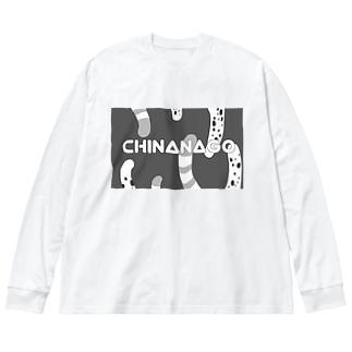 チンアナゴオシャン(モノトーン) Big silhouette long sleeve T-shirts