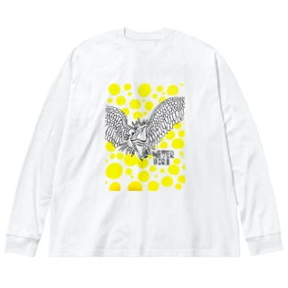 mojay-mojay artのnever bird Big silhouette long sleeve T-shirts
