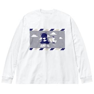 お手紙届いた Big silhouette long sleeve T-shirts