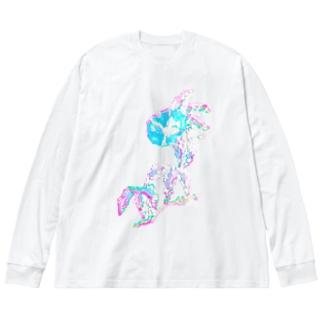 紫陽花 Big silhouette long sleeve T-shirts