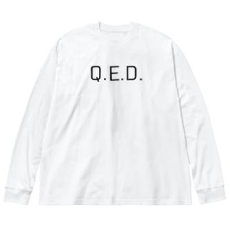 Q.E.D. Big silhouette long sleeve T-shirts