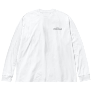 HOTEL AMERICANO / Black Big silhouette long sleeve T-shirts