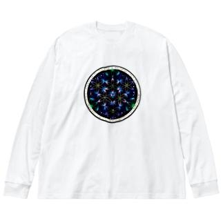 水中花-丸ver. Big silhouette long sleeve T-shirts