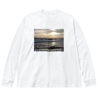 ShimaneⓉ『Nagahama sunset.1』 Big silhouette long sleeve T-shirts