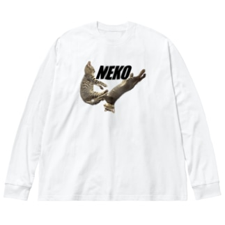 NEKO Big silhouette long sleeve T-shirts