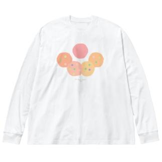 腸内環境 Big silhouette long sleeve T-shirts