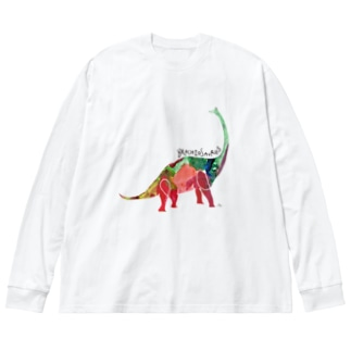 MOTHER/ブラキオサウルス  Big silhouette long sleeve T-shirts