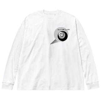 心頭滅却すれば火もまた涼し Big silhouette long sleeve T-shirts