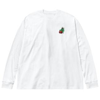 メロンソーダ Big silhouette long sleeve T-shirts