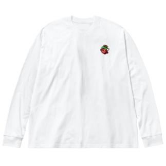 キューピット Big silhouette long sleeve T-shirts