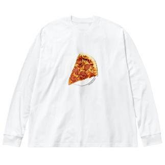 ペパロニピザ Big silhouette long sleeve T-shirts