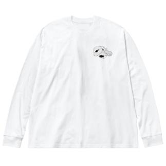歌川国芳の猫の親子 Big silhouette long sleeve T-shirts
