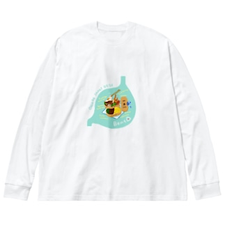 Bento in 胃袋 エビフライ Big silhouette long sleeve T-shirts