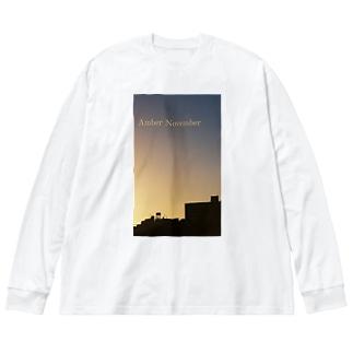 Amber November Big silhouette long sleeve T-shirts