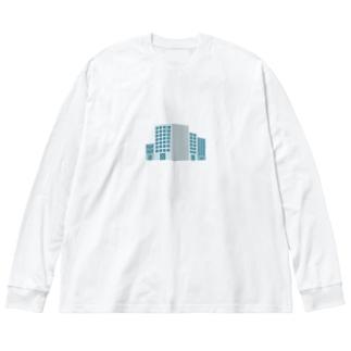 ホワイト企業 Big silhouette long sleeve T-shirts
