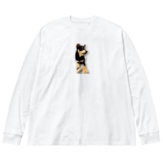 実家のKaiくん Big silhouette long sleeve T-shirts