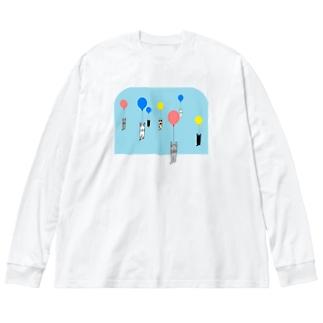 ベタですみません。風船 Big silhouette long sleeve T-shirts