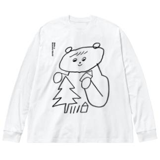 うつくしいせかい Big silhouette long sleeve T-shirts