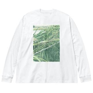 綱渡り中 Big silhouette long sleeve T-shirts