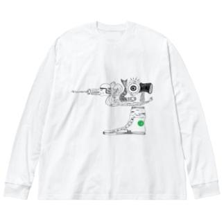 スタジオプロット Big silhouette long sleeve T-shirts