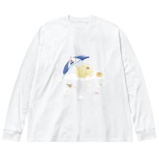 【KAMAP】パラソルとキンクマ Big Long Sleeve T-shirt