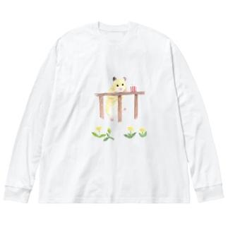 【KAMAP】ポップコーンとキンクマ Big Long Sleeve T-shirt