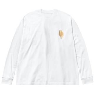 ちいさなひつじ ワンポイント Big silhouette long sleeve T-shirts