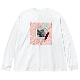 【引退馬支援企画】TUKGA KIREI DESUNE ウォールTYPE Big Long Sleeve T-shirt