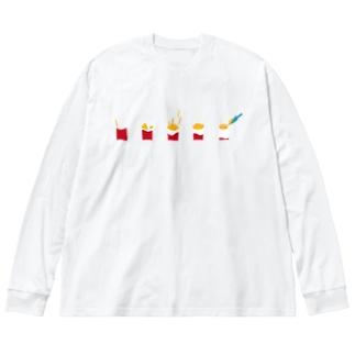 フライドポテト Big silhouette long sleeve T-shirts