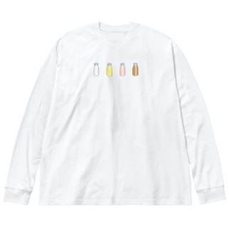 cosmicatiromの牛乳達 Big silhouette long sleeve T-shirts