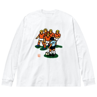 永遠の10番 (背面プリント) Big silhouette long sleeve T-shirts