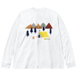 キャンプ Big silhouette long sleeve T-shirts